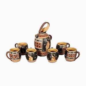 Set in ceramica di FF, anni '40, set di 7