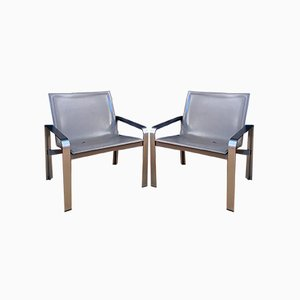 Armchairs by Jacques Toussaint & Patrizia Angeloni for Matteo Grassi, 1970s, Set of 2