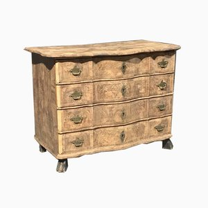Early 19th Century French Bleached Burr Walnut Chest of Drawers