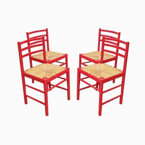 Vintage Italian Dining Chairs from Mario Sabot, 1963, Set of 4