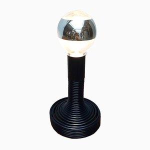 Lampada da tavolo Space Age a spirale di Angelo Mangiarotti per Candle