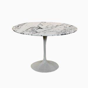 Tavolo da pranzo Tulip in marmo Calacatta di Eero Saarinen per Knoll International