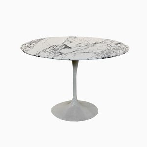 Tulip Dining Table in Calacatta Marble by Eero Saarinen for Knoll International