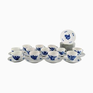 Royal Copenhagen Blue Flower Braided Coffee Service for Twelve People, Set of 36