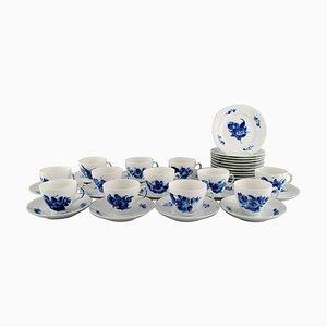 Servizio da caffè Royal Copenhagen floreale intrecciato a forma di fiore blu per 12 persone, set di 36