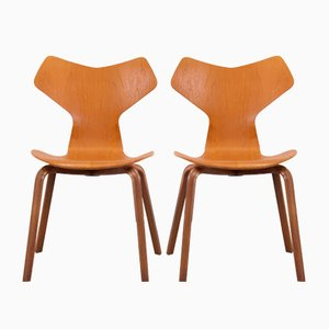 Grand Prix Teak Chairs by Arne Jacobsen for Fritz Hansen, Set of 2