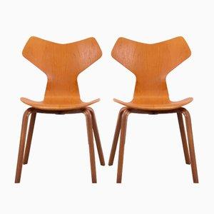 Sedie Grand Prix in teak di Arne Jacobsen per Fritz Hansen, set di 2