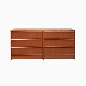 Late Mid-Century Danish Double Chest of Drawers or Sideboard