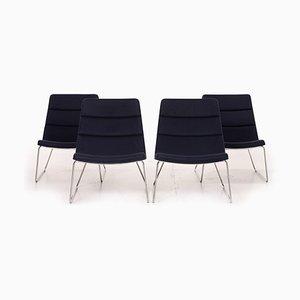 Dark Blue Fabric Relounge 6400 Armchairs by Urs & Carmen Greutmann-Bolzern for Dietiker, Set of 4