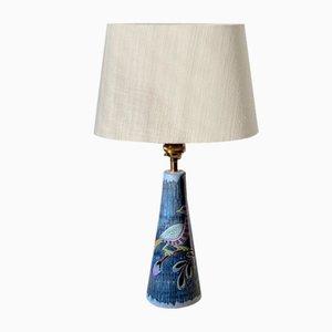 Colorful Ceramic Lamp from Tilgman Keramik, 1960s