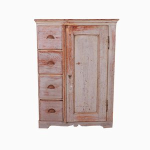 Small French Linen Cupboard, 1880s