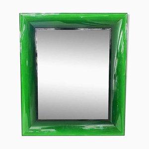 Grüner Kunststoff Spiegel Francois Ghost von Philippe Starck für Kartell, Italien