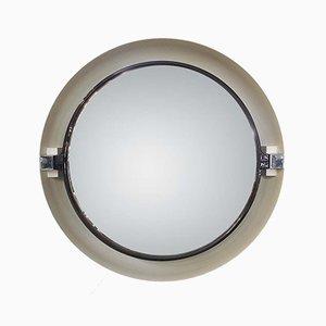 Specchio Space Age in plastica con retroilluminazione di Allibert, Francia, anni '70