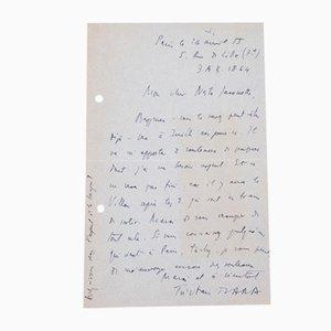 Lettre Autographe Signée par Tristan Tzara - 1955