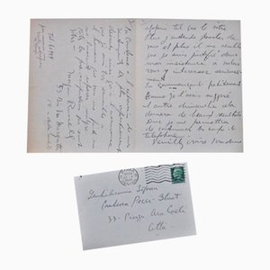 Letter from Via Margutta - Autograph Letter Signed by Morgan Russell - 1935