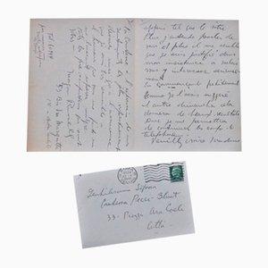 Lettre de Via Margutta - Lettre Autographe Signée par Morgan Russell - 1935
