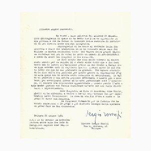 Sergio Romiti - Typewritten Letters Signed to Jacometti Nesto - 1951