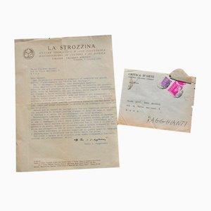 Carlo Ludovico Ragghianti - Typewritten Letter to M. Maccari - 1952