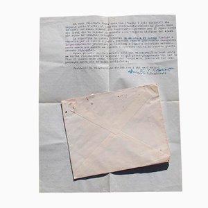 Carlo Ludovico Raghhianti - der Wilde, der Widerstand und die Befreiung - maschinengeschriebener Brief - 1956