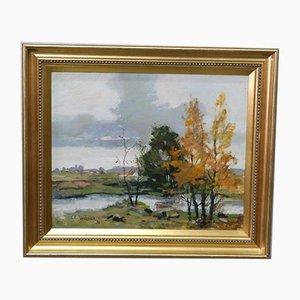 Carl Erik Trulsson, Schwedische Gemälde, Öl auf Leinwand, 1978