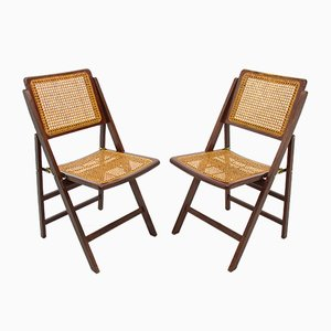 Folding Chairs & Table, 1980s, Set of 3