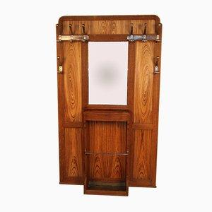 Große Art Deco Garderobe aus Zebra Holz, 1930er
