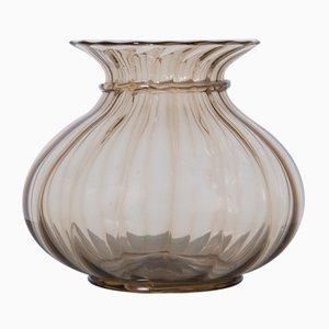 Italian Brown Murano Glass Vase by Paolo Venini, 1925