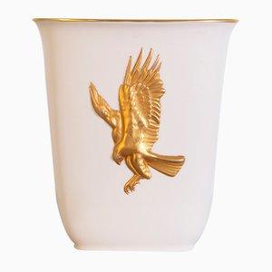 Italian Gold & Ceramic Vase by Arrigo Finzi, 1950s