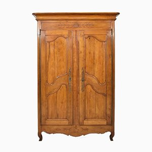 Antique Provencal Cherry Wardrobe, 19th Century