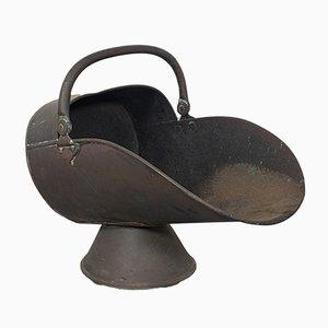 Antique Victorian English Copper Helmet Coal Scuttle, 1870s
