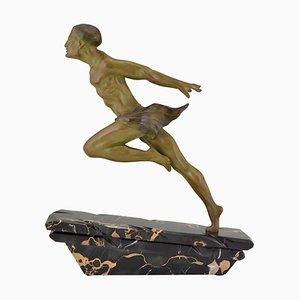 L. Valderi, Gold Athlete, Art Deco Sculpture, 1930s