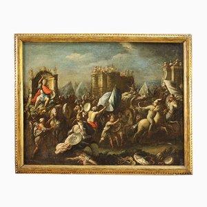 Antike Schlacht, 18. Jahrhundert, Öl auf Leinwand