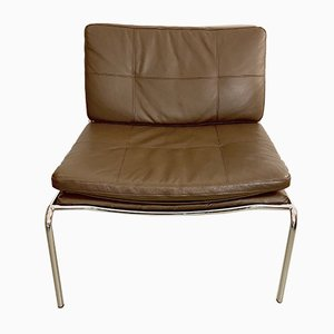 Vintage Leather Frog Lounge Chair by Piero Lissoni for Living Divani