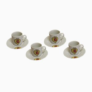 Salvador Dali Porcelain Cups, 2004, Set of 4