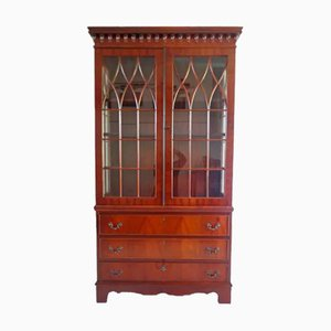 Antique English Book Cabinet, 1800s