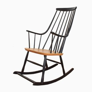 Mid-Century Swedish Rocking Chair by Lena Larsson for Nesto, 1960s