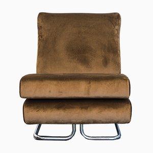 Vintage 5-Piece Modular Brown Velvet Sofa by Ipestudio, Set of 5