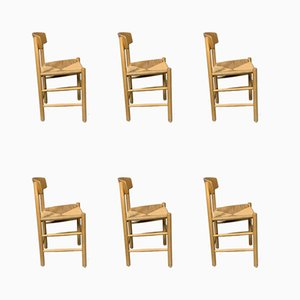 Mid-Century Beech J39 Shaker Dining Chairs by Børge Mogensen for Fredericia Furniture, Set of 6