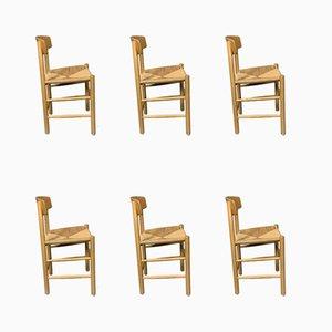 Mid-Century J39 Shaker Esszimmerstühle aus Buchenholz von Børge Mogensen für Fredericia Furniture, 6er Set