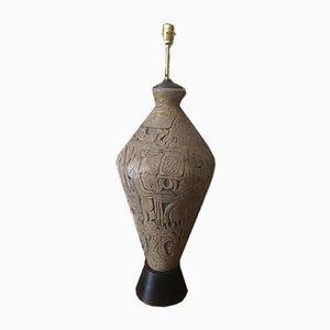 Skulpturale Amphora Stehlampe aus Steingut, 1970er