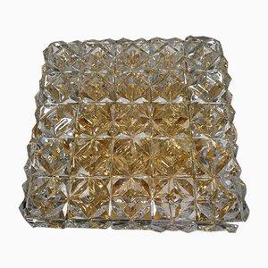 Lampada da soffitto in cristallo di Kinkeldey, anni '60