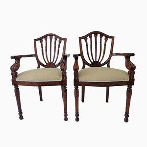 Antique English Regency Style Mahogany Armchair