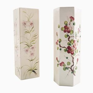 Art Deco Ceramic Vases from Bassano, 1950s, Set of 2