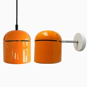 German Pendant Lamp & Spotlight Sconce by Arnold Berges for Staff, 1970s, Set of 2