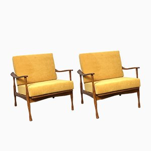 Grete Jalk Style Easy Chairs, 1960s, Set of 2