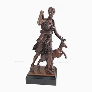 Large Bronze Diane Huntress Sculpture