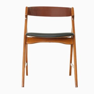 Teak & Beech 71 Side Chair by Henning Kjærnulf for Boltinge Stolefabrik, 1960s