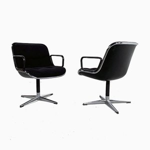 Black F Office Chair by Charles Pollock for Knoll Inc. / Knoll International, 1970s