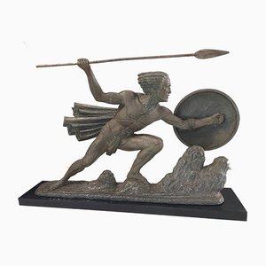 Marcel André Bouraine, Guerier à la Lance Sculpture, 1930s