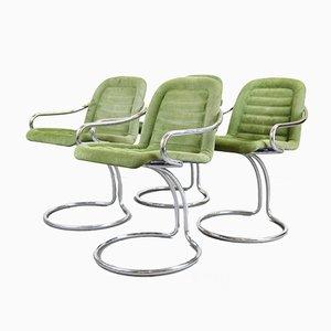 Gastone Rinaldi Style Dining Chairs, 1970s, Set of 4
